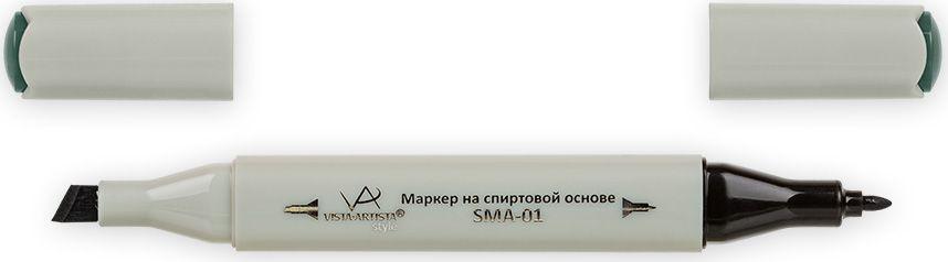 Vista-Artista Маркер Style цвет оксид хрома зеленый G38933862484172Маркер Style с двумя наконечниками позволяет работать различными живописными техниками такими, как скетчинг, создание иллюстраций, прорисовка дизайнов и др.-толстый, скошенный наконечник используют для закрашивания больших поверхностей и прорисовки широких линий, толщина линии 1-7 мм; -тонкий наконечник служит для тонких линий, прорисовки деталей и создания рисунка, толщина линии 1 мм.Цвета можно накладывать друг на друга и смешивать, получая при этом новые оттенки.