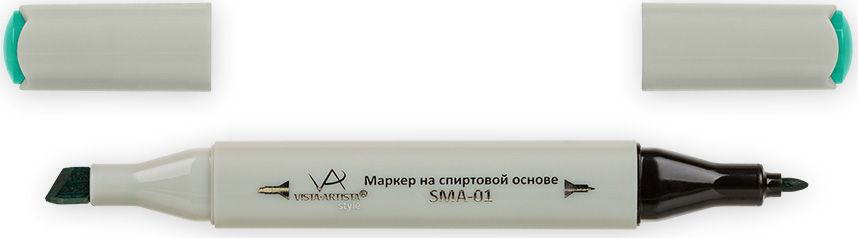 Vista-Artista Маркер Style цвет светло-изумрудный тусклый Z39333862484212Маркер Style с двумя наконечниками позволяет работать различными живописными техниками такими, как скетчинг, создание иллюстраций, прорисовка дизайнов и др. -толстый, скошенный наконечник используют для закрашивания больших поверхностей и прорисовки широких линий, толщина линии 1-7 мм;-тонкий наконечник служит для тонких линий, прорисовки деталей и создания рисунка, толщина линии 1 мм. Цвета можно накладывать друг на друга и смешивать, получая при этом новые оттенки.