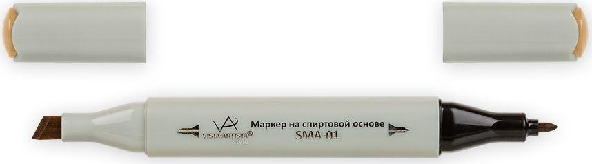 Vista-Artista Маркер Style цвет охра желтая J15033862489362Маркер Style с двумя наконечниками позволяет работать различными живописными техниками такими, как скетчинг, создание иллюстраций, прорисовка дизайнов и др. -толстый, скошенный наконечник используют для закрашивания больших поверхностей и прорисовки широких линий, толщина линии 1-7 мм;-тонкий наконечник служит для тонких линий, прорисовки деталей и создания рисунка, толщина линии 1 мм. Цвета можно накладывать друг на друга и смешивать, получая при этом новые оттенки.