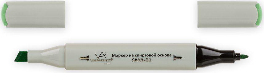 Vista-Artista Маркер Style цвет молодая зелень Z42533862489572Маркер Style с двумя наконечниками позволяет работать различными живописными техниками такими, как скетчинг, создание иллюстраций, прорисовка дизайнов и др. -толстый, скошенный наконечник используют для закрашивания больших поверхностей и прорисовки широких линий, толщина линии 1-7 мм;-тонкий наконечник служит для тонких линий, прорисовки деталей и создания рисунка, толщина линии 1 мм. Цвета можно накладывать друг на друга и смешивать, получая при этом новые оттенки.