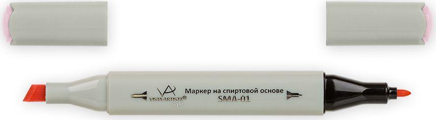 Vista-Artista Маркер Style цвет светло-розовый K26933862491902Маркер Style с двумя наконечниками позволяет работать различными живописными техниками такими, как скетчинг, создание иллюстраций, прорисовка дизайнов и др.-толстый, скошенный наконечник используют для закрашивания больших поверхностей и прорисовки широких линий, толщина линии 1-7 мм; -тонкий наконечник служит для тонких линий, прорисовки деталей и создания рисунка, толщина линии 1 мм.Цвета можно накладывать друг на друга и смешивать, получая при этом новые оттенки.