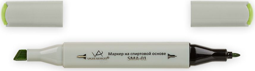 Vista-Artista Маркер Style цвет светло-оливковый Z45033863324422Маркер Style с двумя наконечниками позволяет работать различными живописными техниками такими, как скетчинг, создание иллюстраций, прорисовка дизайнов и др.-толстый, скошенный наконечник используют для закрашивания больших поверхностей и прорисовки широких линий, толщина линии 1-7 мм; -тонкий наконечник служит для тонких линий, прорисовки деталей и создания рисунка, толщина линии 1 мм.Цвета можно накладывать друг на друга и смешивать, получая при этом новые оттенки.