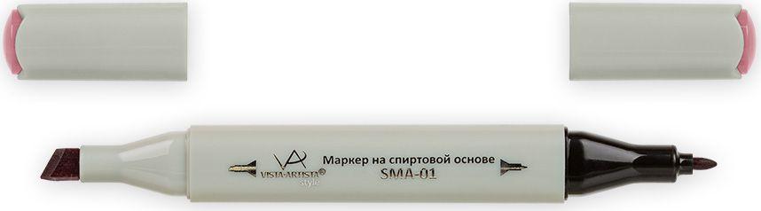 Vista-Artista Маркер Style цвет серо-розовый K25233863325012Маркер Style с двумя наконечниками позволяет работать различными живописными техниками такими, как скетчинг, создание иллюстраций, прорисовка дизайнов и др.-толстый, скошенный наконечник используют для закрашивания больших поверхностей и прорисовки широких линий, толщина линии 1-7 мм; -тонкий наконечник служит для тонких линий, прорисовки деталей и создания рисунка, толщина линии 1 мм.Цвета можно накладывать друг на друга и смешивать, получая при этом новые оттенки.