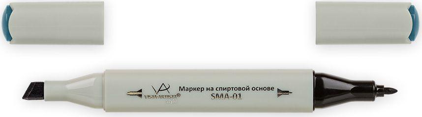 Vista-Artista Маркер Style цвет темный темно-серый-голубой S52933863326812Маркер Style с двумя наконечниками позволяет работать различными живописными техниками такими, как скетчинг, создание иллюстраций, прорисовка дизайнов и др. -толстый, скошенный наконечник используют для закрашивания больших поверхностей и прорисовки широких линий, толщина линии 1-7 мм;-тонкий наконечник служит для тонких линий, прорисовки деталей и создания рисунка, толщина линии 1 мм. Цвета можно накладывать друг на друга и смешивать, получая при этом новые оттенки.