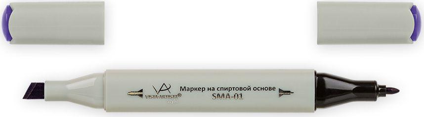 Vista-Artista Маркер Style цвет баклажановый K30533863327562Маркер Style с двумя наконечниками позволяет работать различными живописными техниками такими, как скетчинг, создание иллюстраций, прорисовка дизайнов и др. -толстый, скошенный наконечник используют для закрашивания больших поверхностей и прорисовки широких линий, толщина линии 1-7 мм;-тонкий наконечник служит для тонких линий, прорисовки деталей и создания рисунка, толщина линии 1 мм. Цвета можно накладывать друг на друга и смешивать, получая при этом новые оттенки.