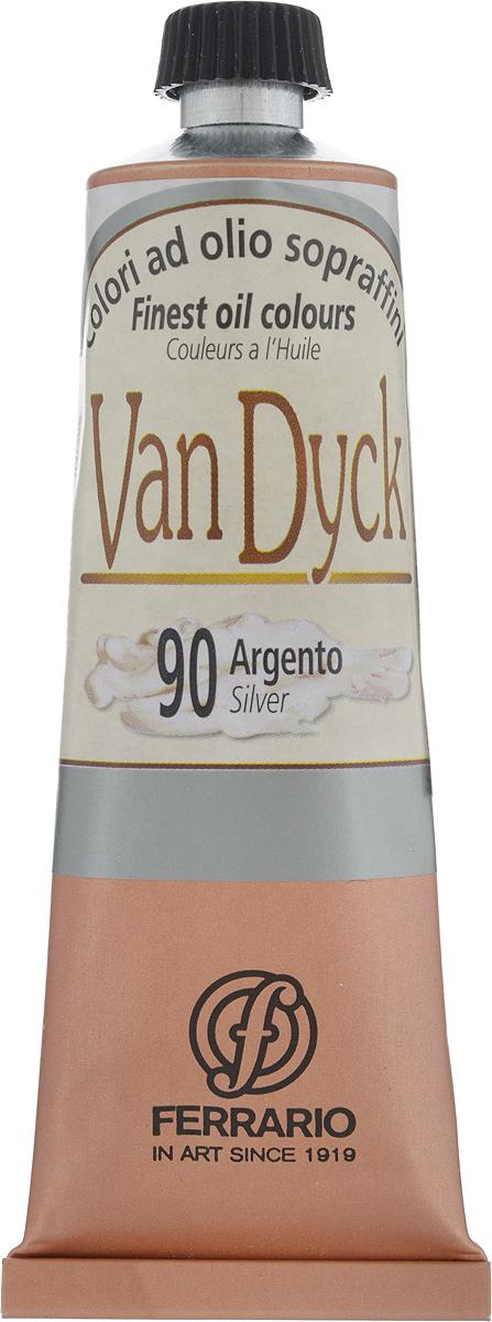 Ferrario Краска масляная Van Dyck цвет №90 серебро AV1117CO90