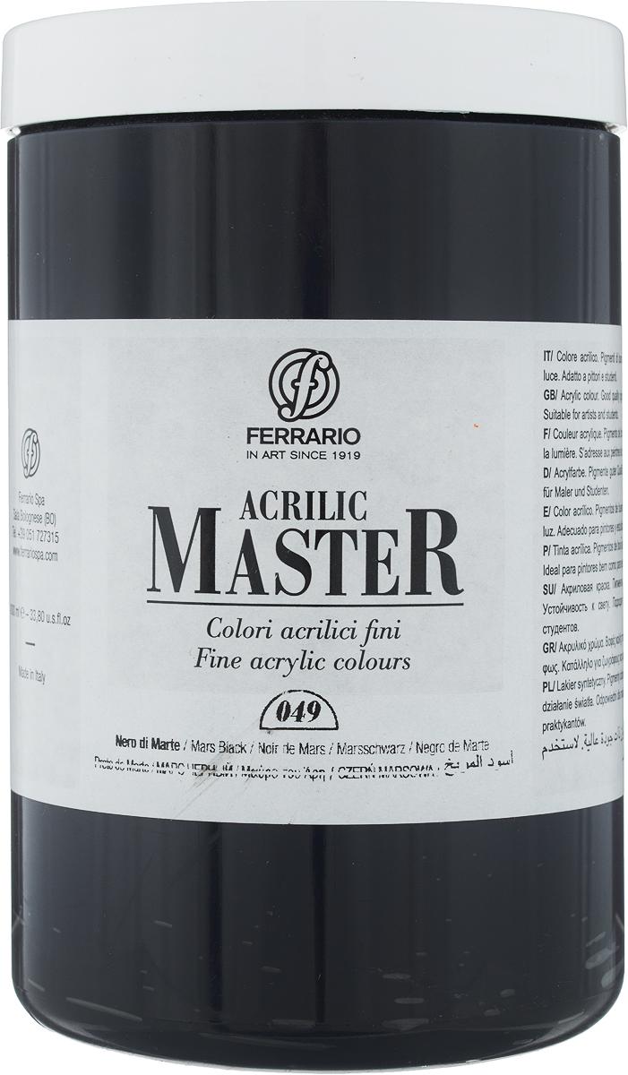 Ferrario Краска акриловая Acrilic Master цвет №49 черный марс BM0979E049BM0979E049Акриловые краски серии ACRILIC MASTER итальянской компании Ferrario. Универсальны в применении, так как хорошо ложатся на любую обезжиренную поверхность: бумага, холст, картон, дерево, керамика, пластик. При изготовлении красок используются высококачественные пигменты мелкого помола. Краска быстро сохнет, обладает отличной укрывистостью и насыщенностью цвета. Работы, сделанные с помощью ACRILIC MASTER, не тускнеют и не выгорают на солнце. Все цвета отлично смешиваются между собой и при необходимости разбавляются водой. Для достижения необходимых эффектов применяют различные медиумы для акриловой живописи. В серии представлено 50 цветов.