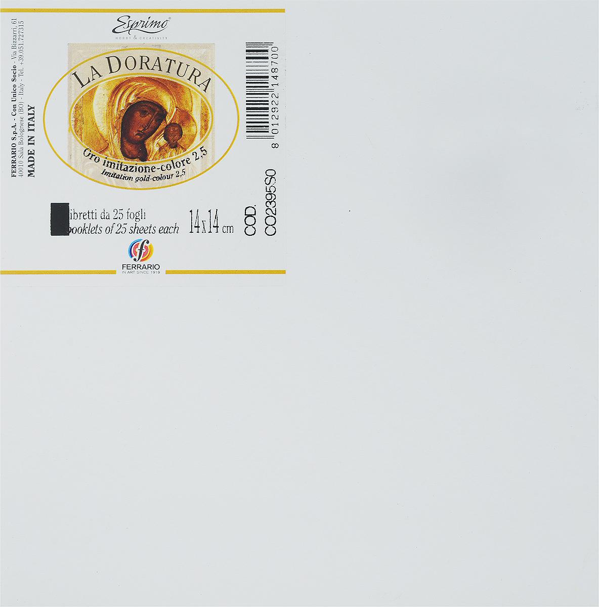 Ferrario Поталь для золочения в листах CO2395SOCO2395SOПоталь серии LA DORATURA итальянской компании Ferrario – это имитация сусального золота, серебра или меди, которая применяется для декорирования мебели и различных предметов интерьера. Она используется как в профессиональном декорировании, так и в любительском творчестве. Поталь в листах с имитацией золота представляет собой металлическую фольгу золотого цвета. Может применяться для золочения предметов с различной поверхностью: дерево, керамика, стекло, картон, гипс и другие. Разрезать листы потали необходимо специальными острыми стальными ножами, иначе листы помнутся. Рекомендуется как можно меньше дотрагиваться до листов руками и использовать специальные инструменты и аксессуары для золочения. Поталь 14х14см. 25 листов.