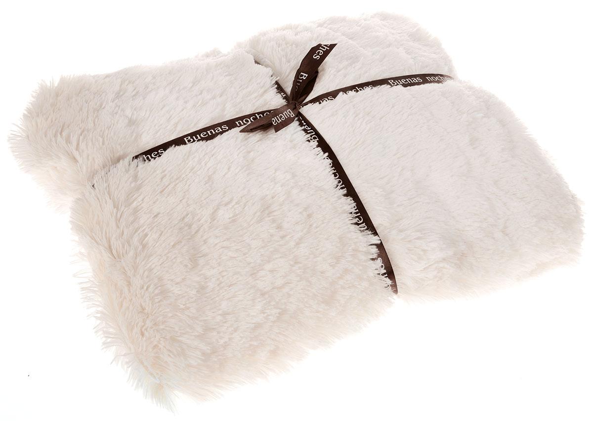 """Плед Buenas Noches """"Длинный ворс"""" сочетает в себе стиль и качество, идеальное решение для  вашего интерьера!  Плед изготовлен из 100% полиэстера - это уникальная ткань,  обладающая рядом неоспоримых достоинств. Полиэстер - считается одной из самых популярных  тканей. Это материал синтетического происхождения из полиэфирных волокон. Внешне такая  ткань схожа с шерстью, а по свойствам близка к хлопку. Искусственный мех по внешнему виду и  свойствам напоминает натуральный мех.  Прочная ткань, за время использования не  растягивается и не садится."""