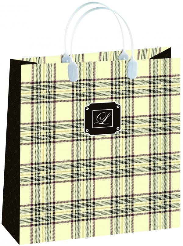 Пакет подарочный Bello, цвет: бежевый, 23 х 26 см. BAS108BAS108Материал изготовления – пищевой полипропилен. Грузоподъемность – 12 кг. Морозостойкие (до -30 С). Ручки пластиковые. Размер 230*260