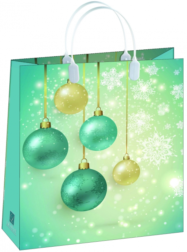 Пакет подарочный Bello Новый год!, 23 х 26 см. BAS113BAS113Материал изготовления – пищевой полипропилен. Грузоподъемность – 12 кг. Морозостойкие (до -30 С). Ручки пластиковые. Размер 230*260