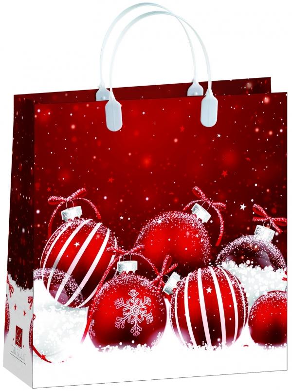 Пакет подарочный Bello Новый год!, 30 х 30 см . BAM 152BAM 152Материал изготовления – пищевой полипропилен. Грузоподъемность – 12 кг. Морозостойкие (до -30 С). Ручки пластиковые. Размер 300*300