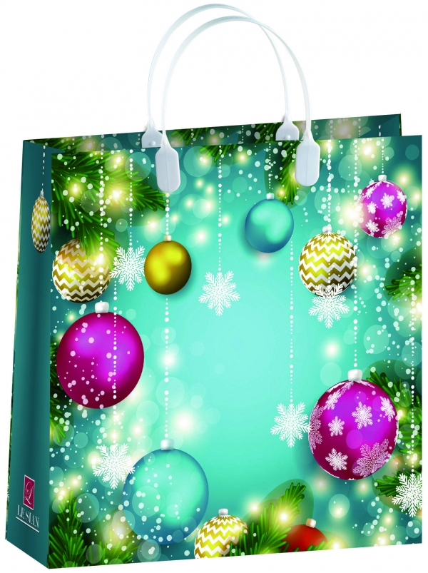 Пакет подарочный Bello Новый год!, 30 х 30 см . BAM 153BAM 153Материал изготовления – пищевой полипропилен. Грузоподъемность – 12 кг. Морозостойкие (до -30 С). Ручки пластиковые. Размер 300*300