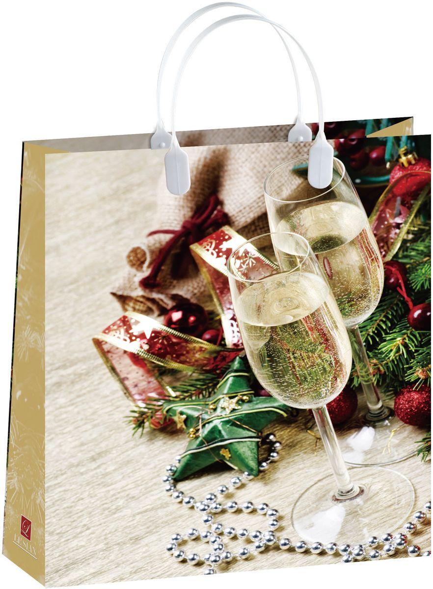 Пакет подарочный Bello Новый год!, 32 х 42 см. BAL148BAL148Материал изготовления – пищевой полипропилен. Грузоподъемность – 12 кг. Морозостойкие (до -30 С). Ручки пластиковые. Размер 320*420