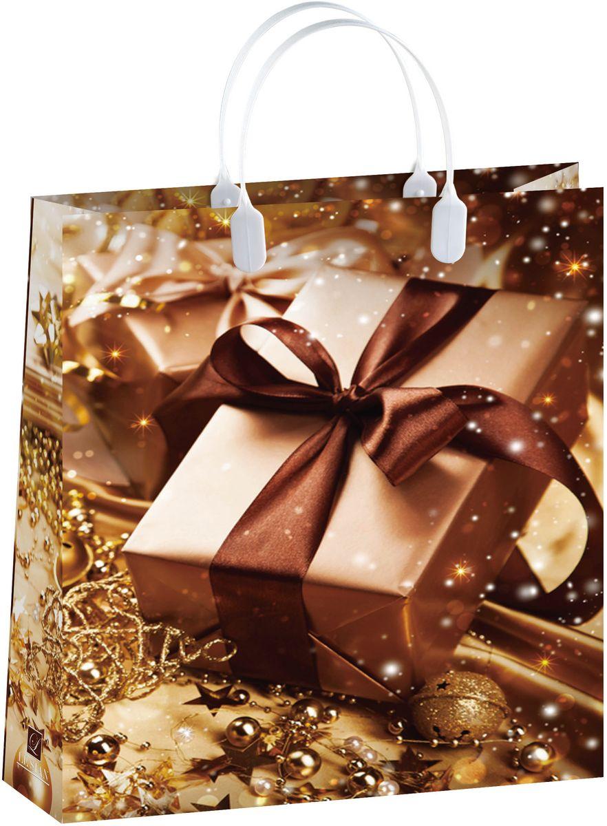 Пакет подарочный Bello Новый год!, 32 х 42 см. BAL149BAL149Материал изготовления – пищевой полипропилен. Грузоподъемность – 12 кг. Морозостойкие (до -30 С). Ручки пластиковые. Размер 320*420