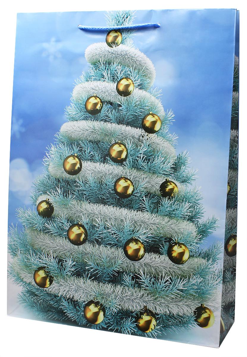 Пакет подарочный ламинированный. Ручки-шнурки. Размер:324 x 445 x 102 мм .