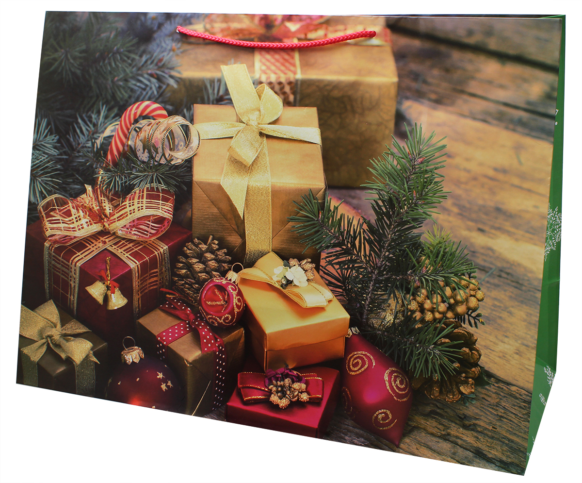 Пакет подарочный Мегамаг, ламинированный, 41 х 56 х 24 см. 908/927908/927Пакет подарочный ламинированный. Ручки-шнурки.Размер:410 x 560 x 240 мм .