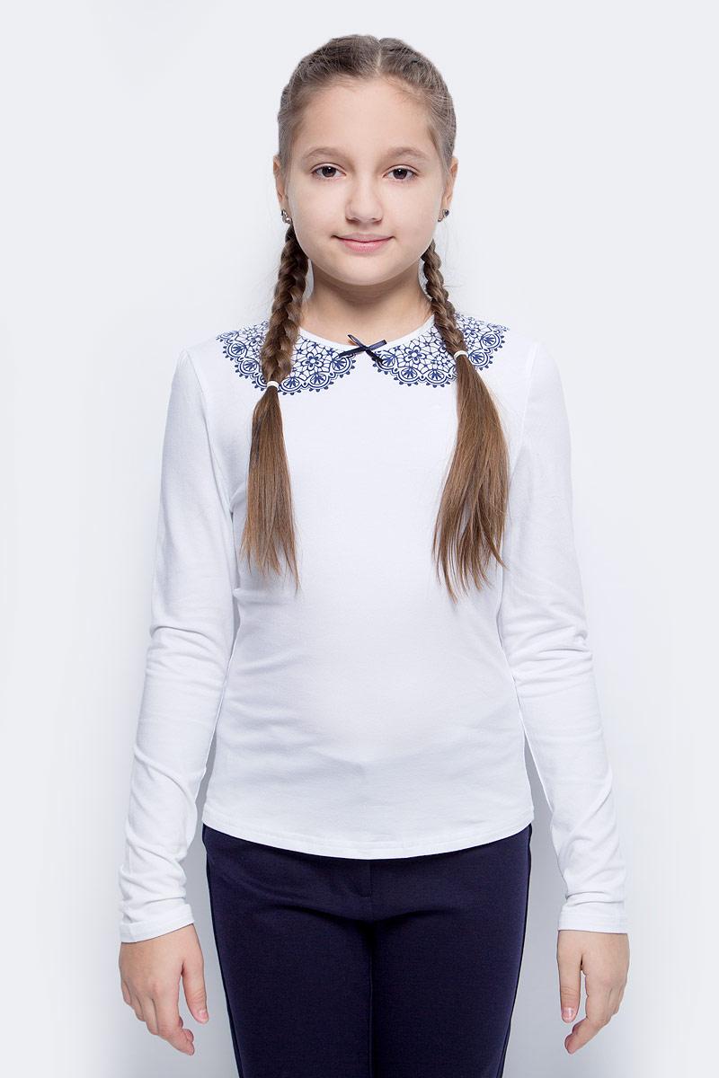 Блузка для девочки Nota Bene, цвет: белый. CJR27029_1. Размер 146