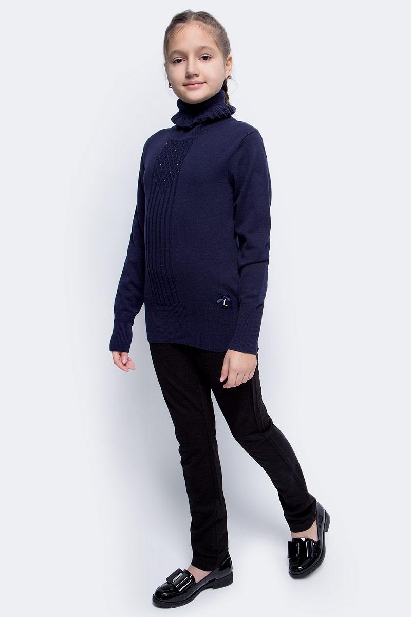 Водолазка для девочки Luminoso, цвет: темно-синий. 728010. Размер 122 водолазки анна чапман водолазка