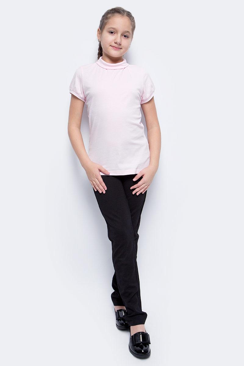 Водолазка для девочки LeadGen, цвет: розовый. G970008216-172. Размер 134G970008216-172Водолазка для девочки LeadGen выполнена из эластичного хлопкового трикотажа. Модель с короткими рукавами и воротником-гольф.