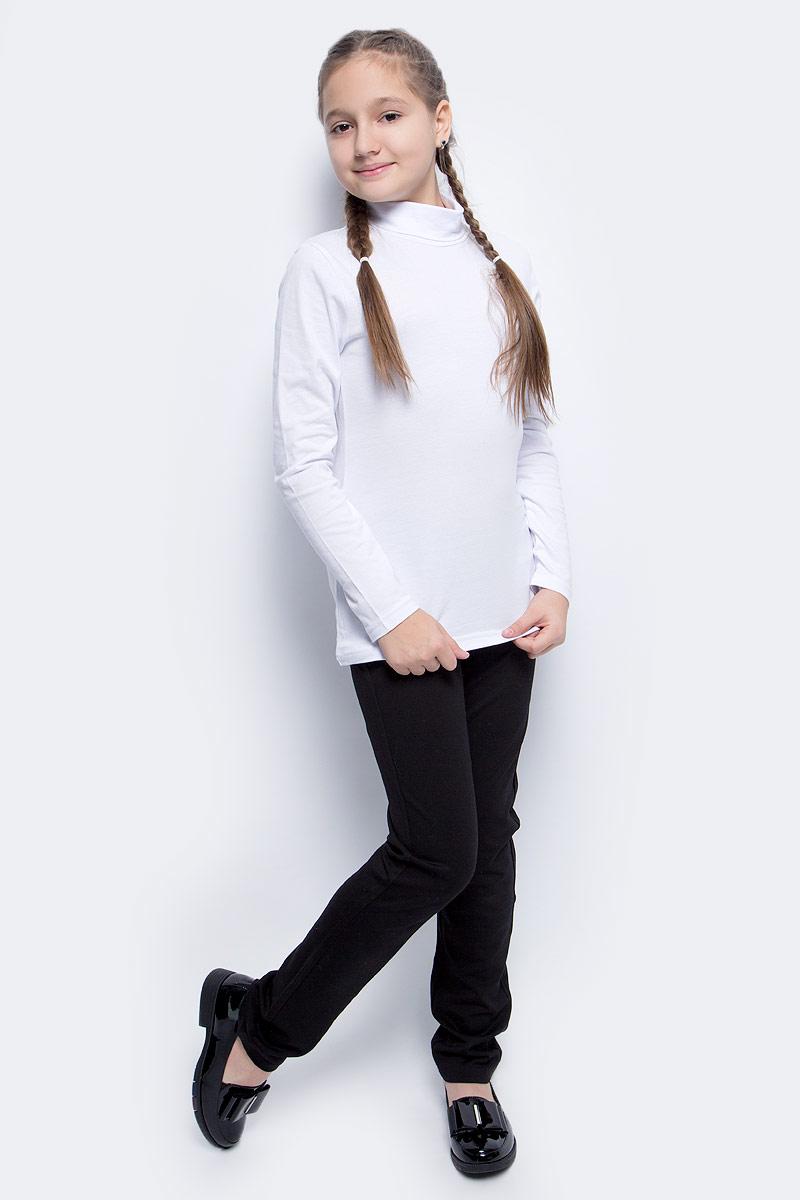 Водолазка для девочки LeadGen, цвет: белый. G935007314-172. Размер 146G935007314-172Водолазка для девочки LeadGen выполнена из эластичного хлопкового трикотажа. Модель с длинными рукавами и воротником-гольф.