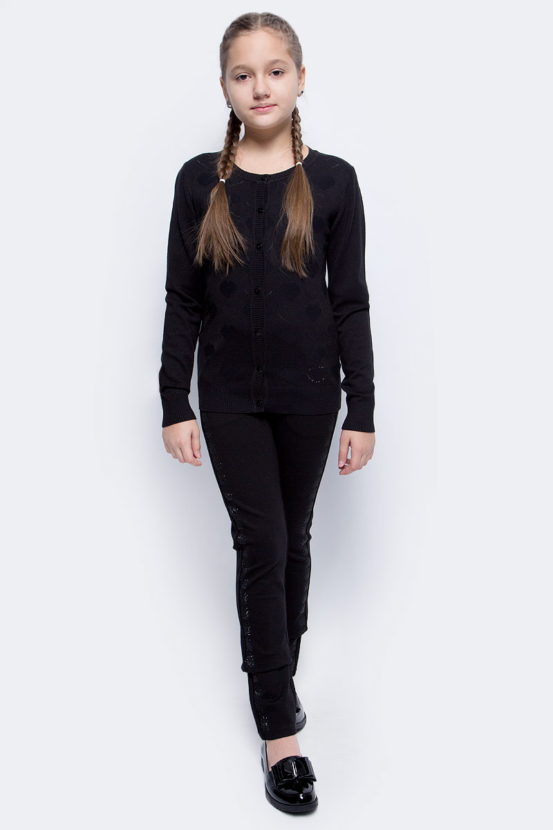 Кофта для девочки Vitacci, цвет: черный. 2173002-03. Размер 158 свитер для мальчика vitacci цвет черный 1173003 03 размер 158