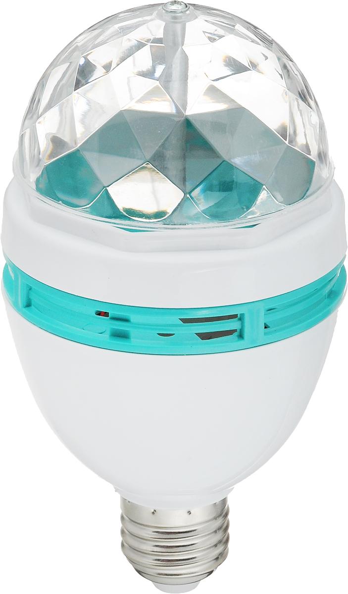 Лампа светодиодная Vegas Диско, 3 разноцветных LED лампы, цоколь Е2755099Светодиодная лампа применяется для создания эффекта светомузыки. Вкручивается в люстру или светильник с подходящим патроном (Е 27).