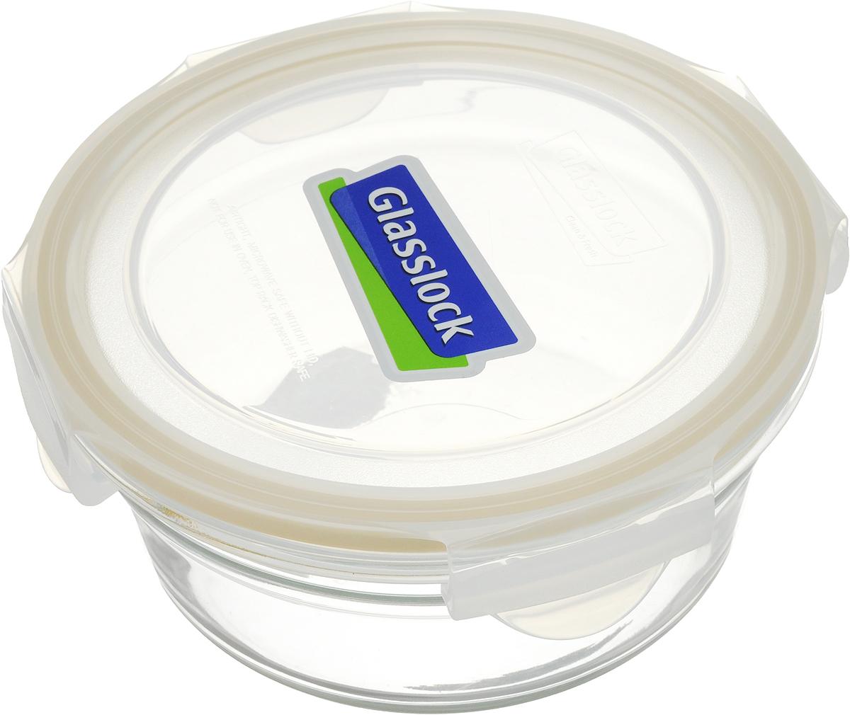 """Контейнер """"Glasslock"""" изготовлен из высококачественного закаленного  ударопрочного стекла. Герметичная крышка, выполненная из пластика и снабженная  уплотнительной резинкой, надежно закрывается с помощью четырех защелок. Подходит для  мытья в посудомоечной машине, хранения в холодильных и морозильных камерах,  использования в микроволновых печах. Выдерживает резкий перепад температур. Стеклянная посуда нового поколения от """"Glasslock"""" экологична, не содержит  токсичных и ядовитых материалов; превосходная герметичность позволяет сохранять  свежесть продуктов; покрытие не впитывает запах продуктов; имеет утонченный  европейский дизайн - прекрасное украшение стола. Диаметр контейнера (по верхнему краю): 15,5 см.  Высота контейнера (с учетом крышки): 7,5 см."""