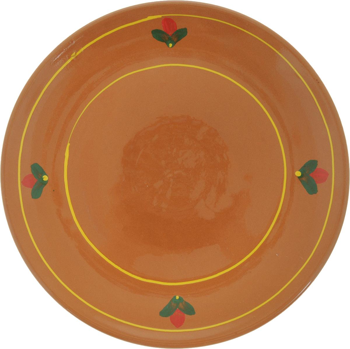 Тарелка Борисовская керамика Cтандарт, цвет: коричневый, желтый, диаметр 22,5 см10327SLBD14Тарелка Борисовская керамика Cтандарт выполнена из высококачественнойкерамики с покрытием пищевой глазурью. Изделие отлично подходит для подачи вторых блюд,сервировки нарезок, закусок, овощей и фруктов. Такая тарелка отлично подойдет дляповседневного использования. Она прекрасно впишется в интерьер вашей кухни.Посуда термостойкая, можно использовать в духовке и в микроволновой печи.Диаметр тарелки (по верхнему краю): 22,5 см.Высота стенки: 2,5 см.