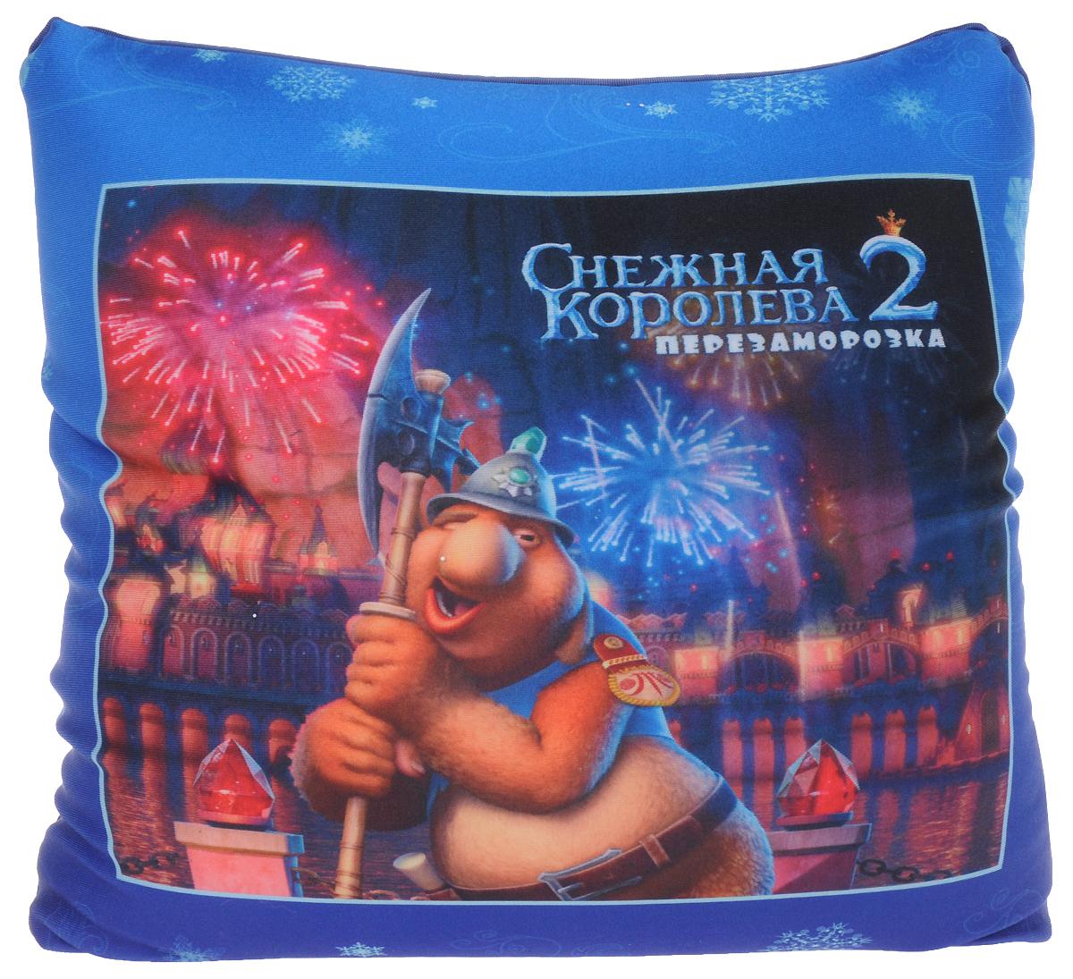 СмолТойс Мягкая игрушка-подушка Снежная Королева 2 цвет темно-синий 30 см игрушка антистресс смолтойс кукла анюта 30 см