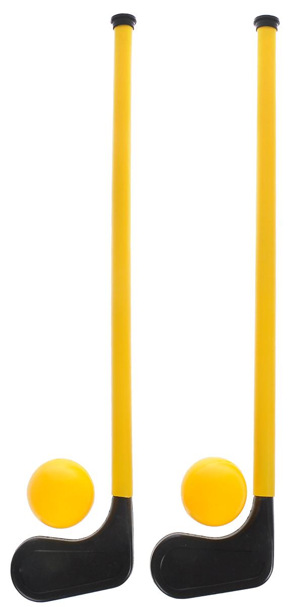 Пластмастер Игровой набор Хоккей с мячом цвет желтый набор для игры в хоккей ну погоди т53919