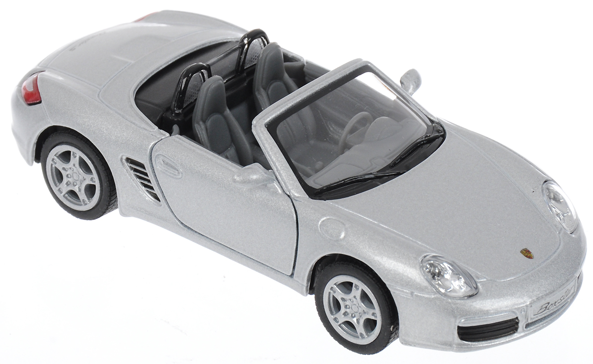 Kinsmart Модель автомобиля Porsche Boxster S цвет серебристый uni fortunetoys модель автомобиля porsche cayenne turbo