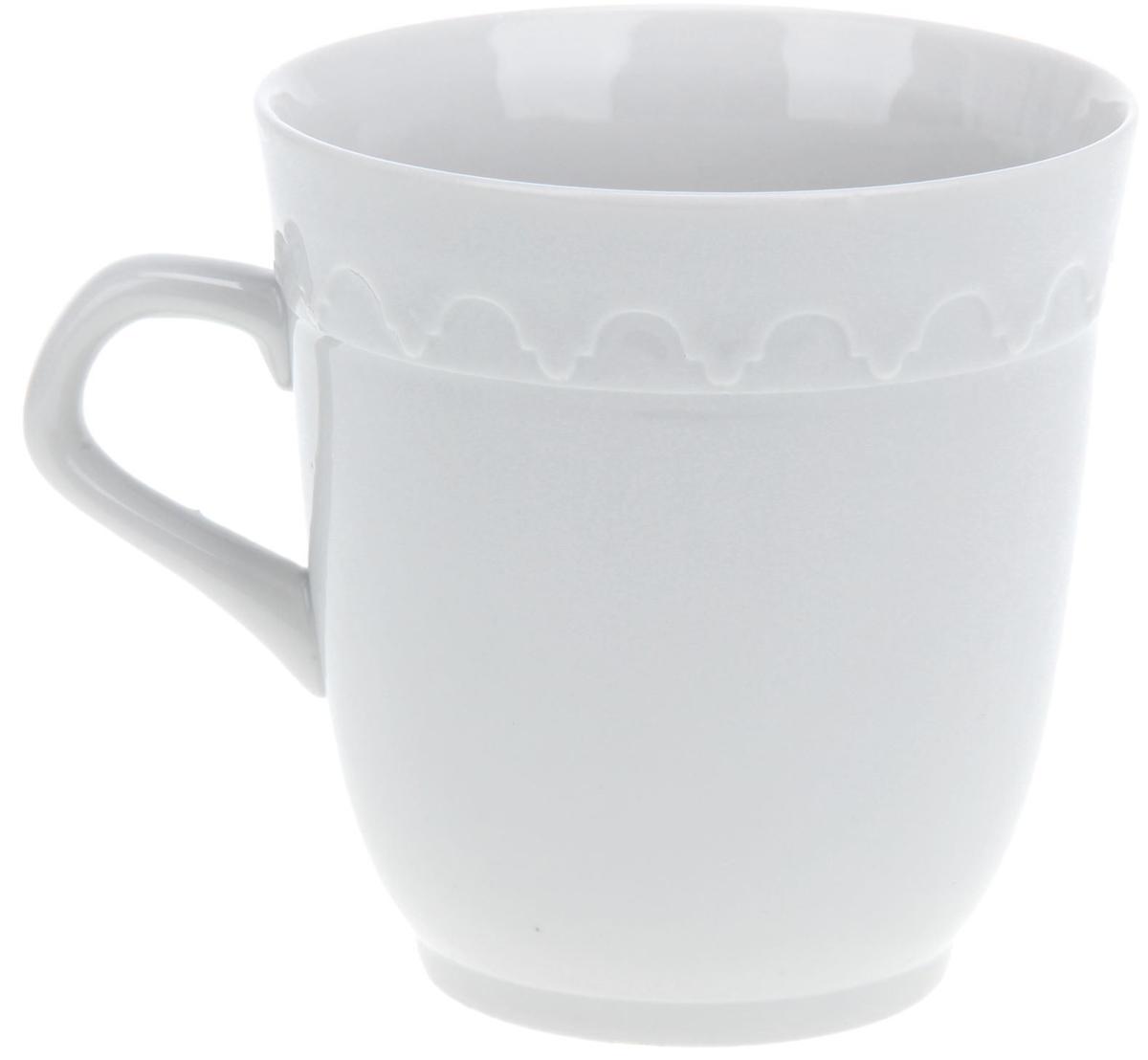 Кружка Фарфор Вербилок Арабеска, 250 мл. 13331811333181Кружка Фарфор Вербилок способна скрасить любое чаепитие. Изделие выполнено из высококачественного фарфора. Посуда из такого материала позволяет сохранить истинный вкус напитка, а также помогает ему дольше оставаться теплым.