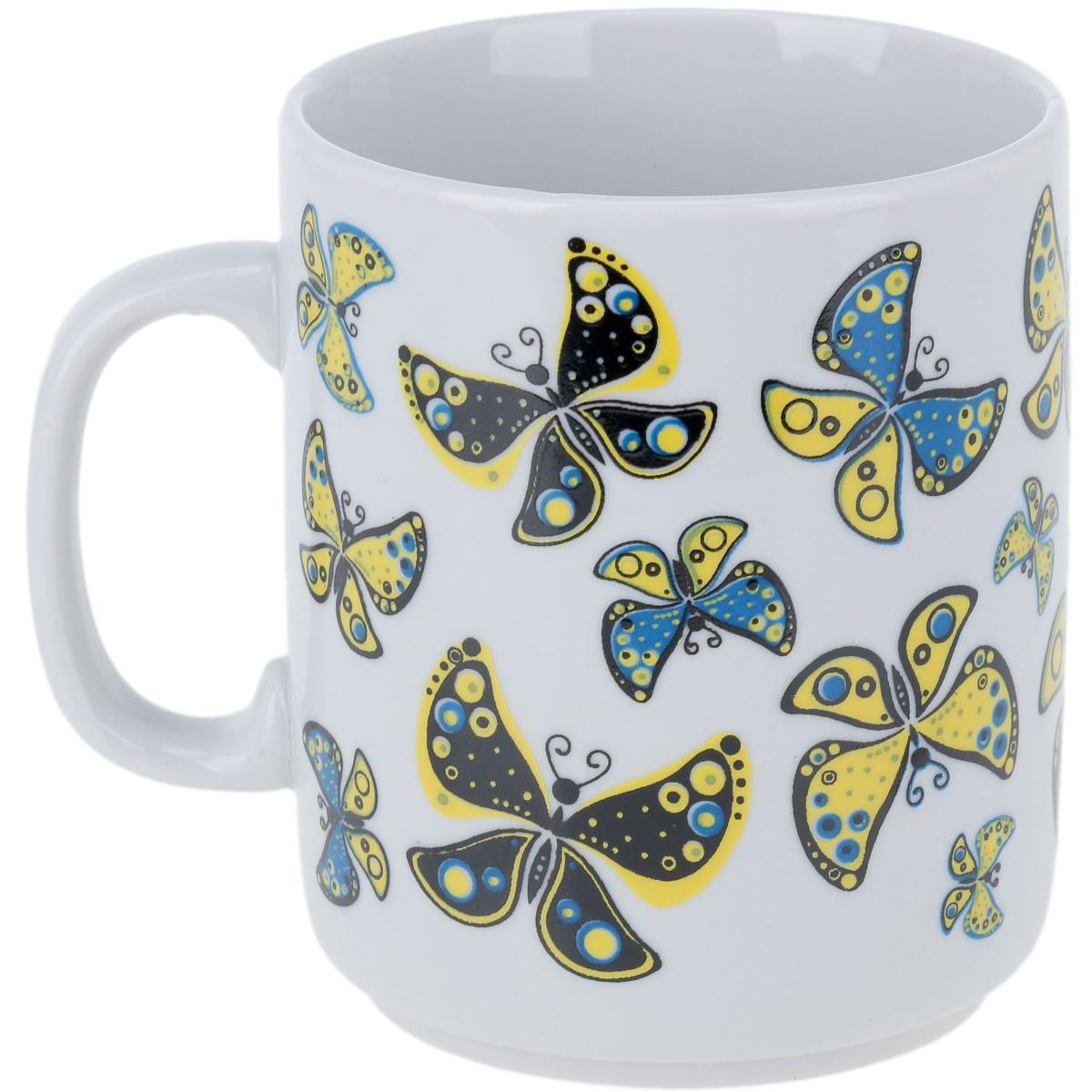 Кружка Фарфор Вербилок Солнечные бабочки, 300 мл. кружка фарфор вербилок розовая лилия 200 мл