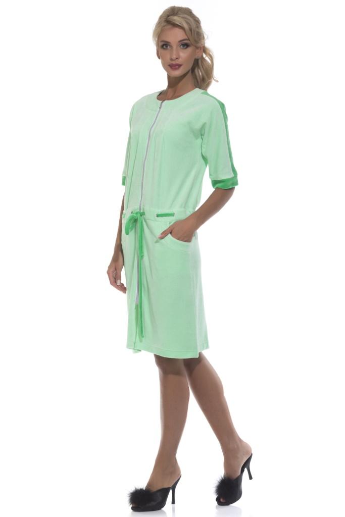 Халат женский Peche Monnaie, цвет: зеленый. 392. Размер XL (50)
