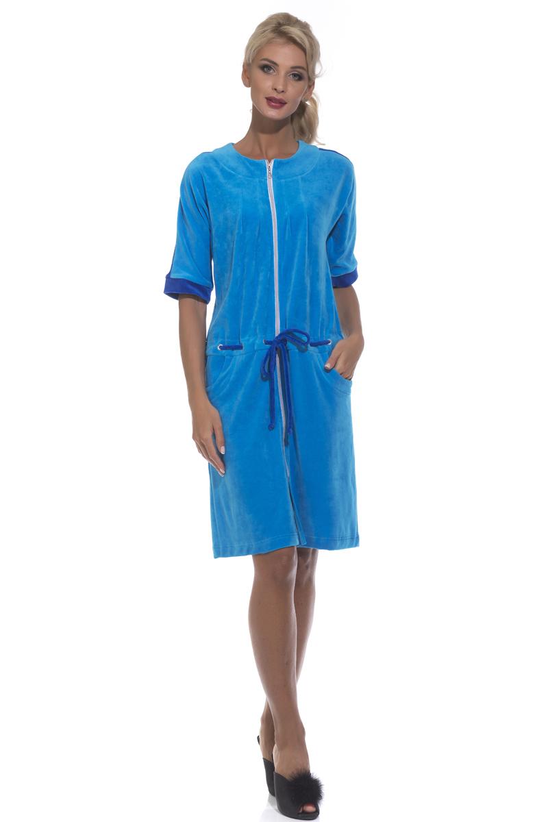 Халат женский Peche Monnaie, цвет: голубой. 392. Размер XL (50)
