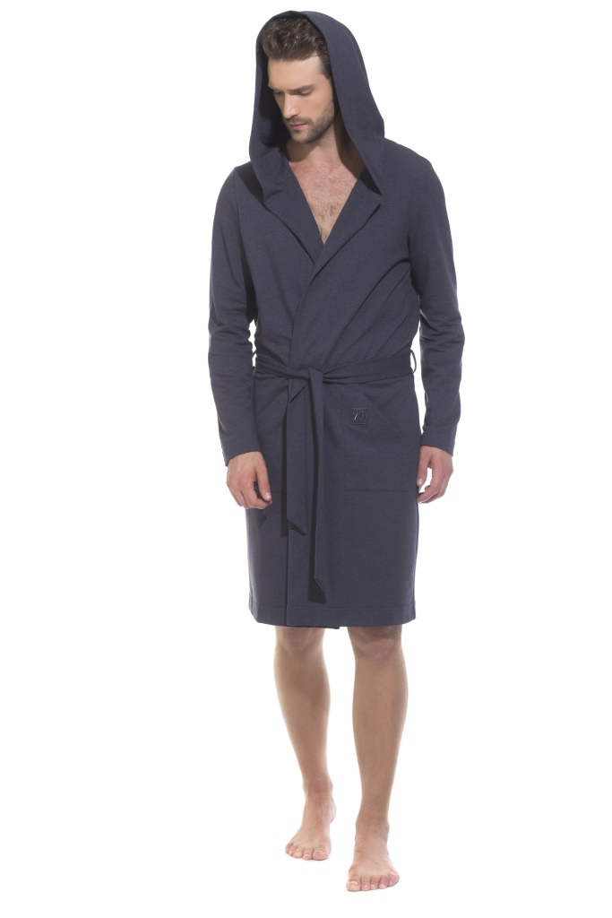 Халат мужской Peche Monnaie, цвет: синий. 410. Размер XL (50/52) купить шелковый халат мужской спб