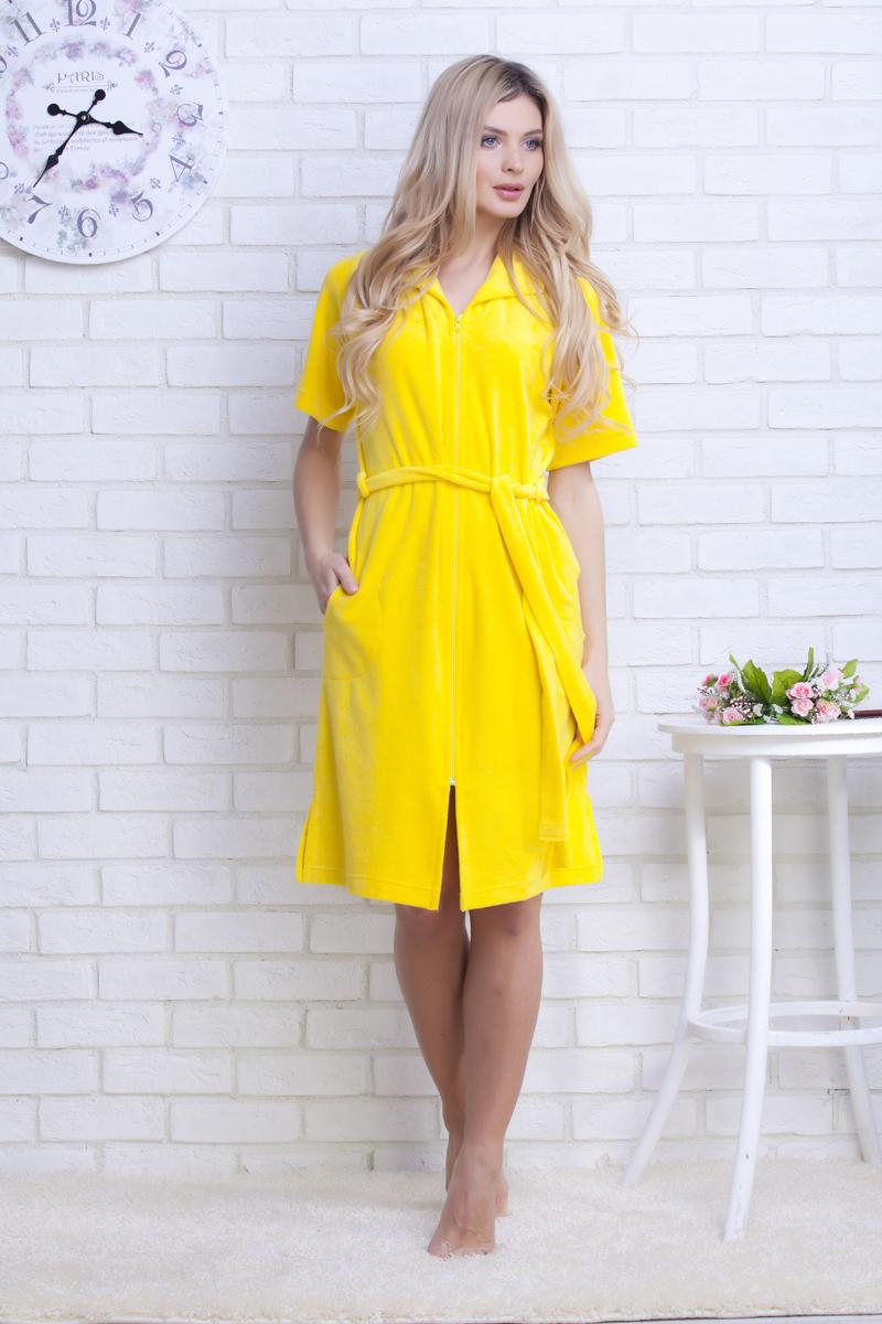 Халат женский Evateks, цвет: желтый. 463. Размер S (42/44) халат evateks 382 р 42 44 dry rose