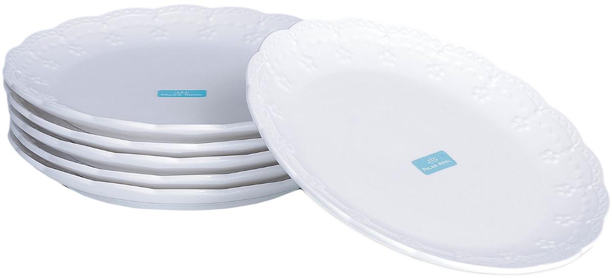 Набор тарелок Lamart Dolci, цвет: белый, диаметр 20 см, 6 шт869837