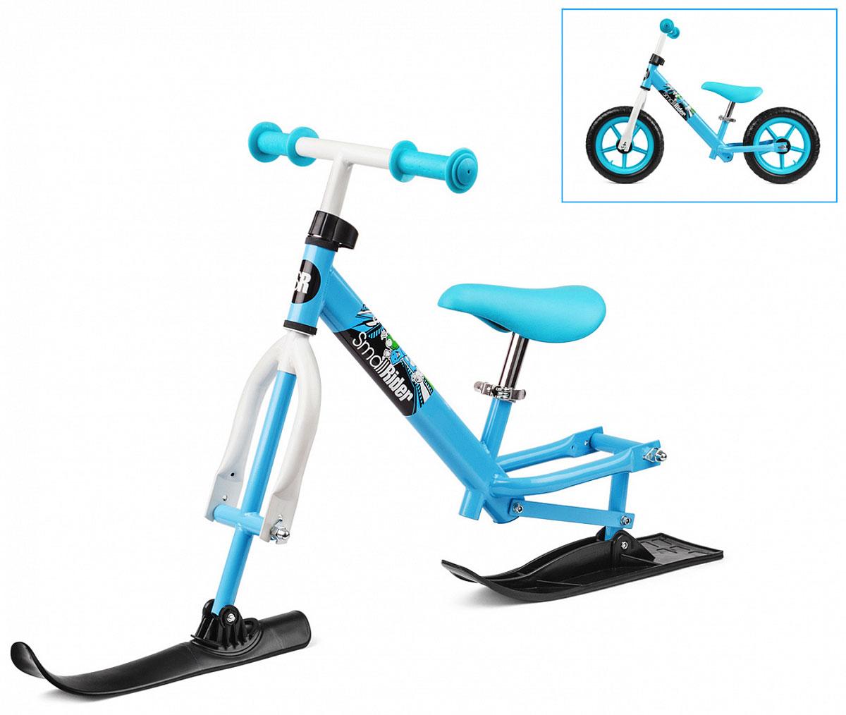 Small Rider Беговел Combo Racer 2 в 1 с лыжами и колесами цвет голубой - Беговелы