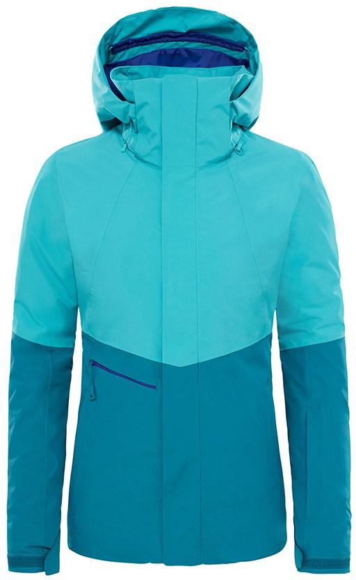 Куртка женская The North Face W Garner Tri Jkt Vs, цвет: синий. T9333KWCE. Размер M (44/46)T9333KWCEСтильная женская куртка от The North Face выполнена из высококачественного материала. Модель с длинными рукавами и капюшоном застегивается на молнию и дополнительно имеет ветрозащитный клапан на липучках. Манжеты рукавов дополнены хлястиками на липучках.