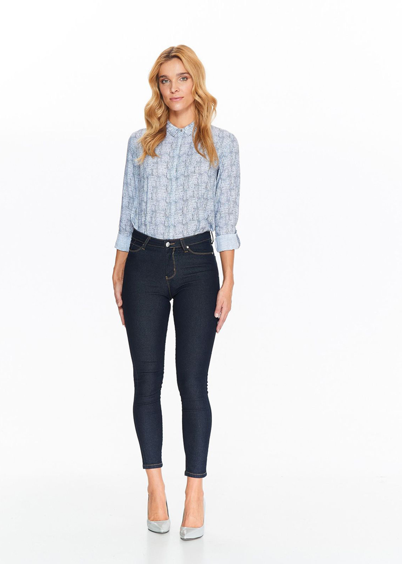 Джинсы женские Top Secret, цвет: темно-синий. SSP2663GR. Размер 42 (50) шорты женские top secret цвет синий ssz0815ni размер 42 50