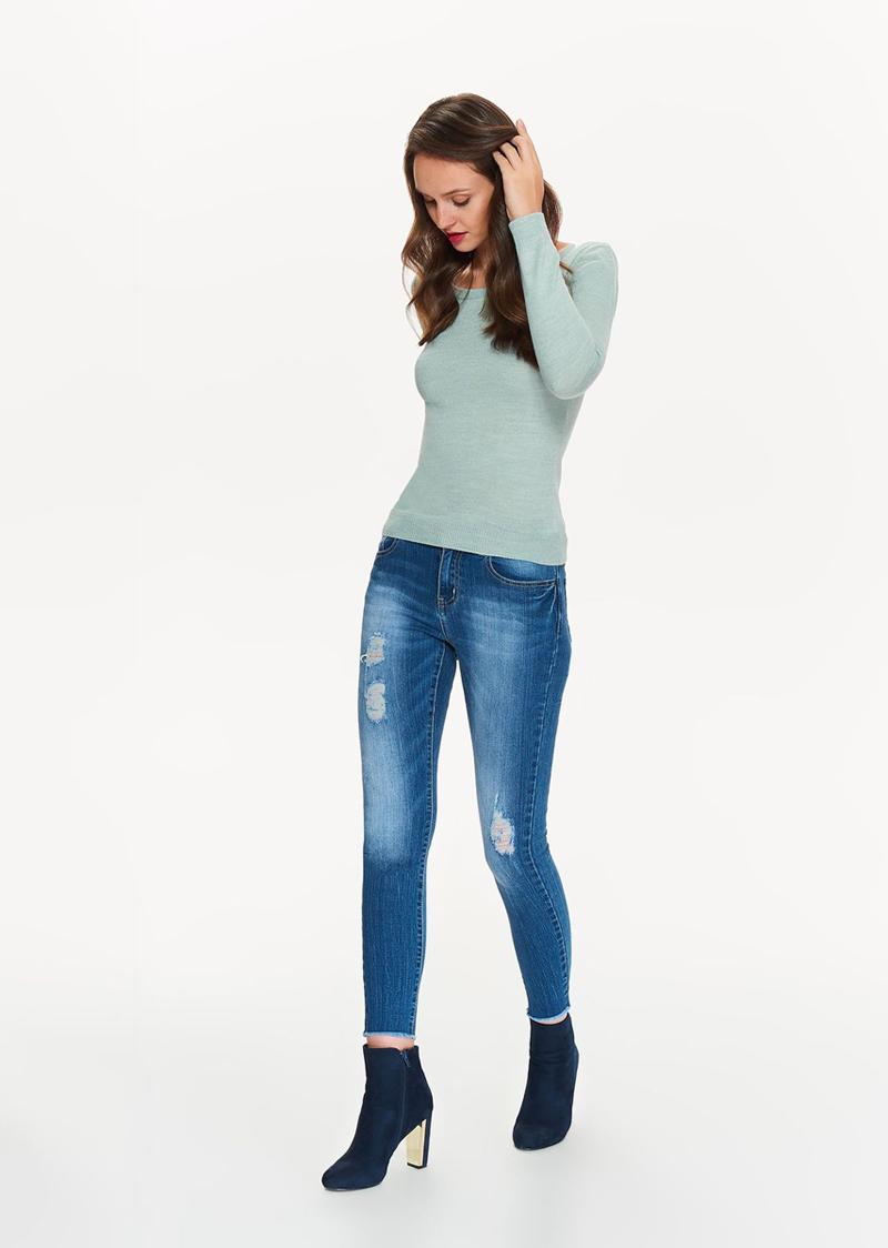 Свитер женский Top Secret, цвет: бирюзовый. SSW2207TU. Размер 34 (42) свитер quelle top secret 1033697