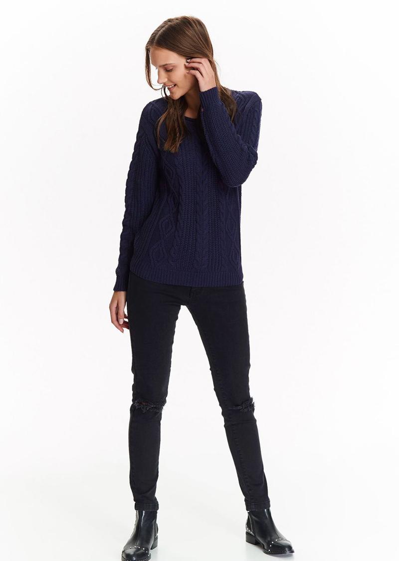 Свитер женский Top Secret, цвет: темно-синий. SSW2242GR. Размер 36 (44)SSW2242GR