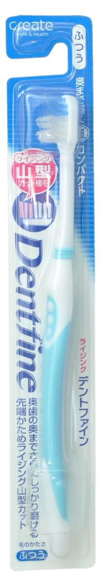 Create Зубная щетка с компактной чистящей головкой и щетинками разного уровня, средней жесткости, цвет: голубой21915_blueЗубная щетка с компактной чистящей головкой, тонкими кончиками и щетинками разного уровня позволяет тщательно очистить самые труднодоступные места. Легко проникает в узкие щели между зубами и деснами, тщательно очищает налет.Зубную щётку удобно держать благодаря резиновой накладке на ручке, предотвращающей скольжение пальцев.* Секрет правильной чистки зубов заключается в частых движениях щеткой без приложения силы и использовании кончиков щетинок для очищения пространства между зубами. Резкие движения зубной щеткой не удаляют тщательно налёт с зубов и становятся причиной повреждения дёсен.Товар рекомендован Японской ассоциацией производителей щеток.