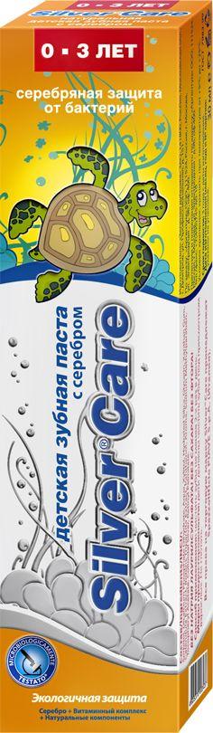 Silver Care Детская зубная паста с серебром от 0 до 3 лет со вкусом сгущенного молока 30 мл