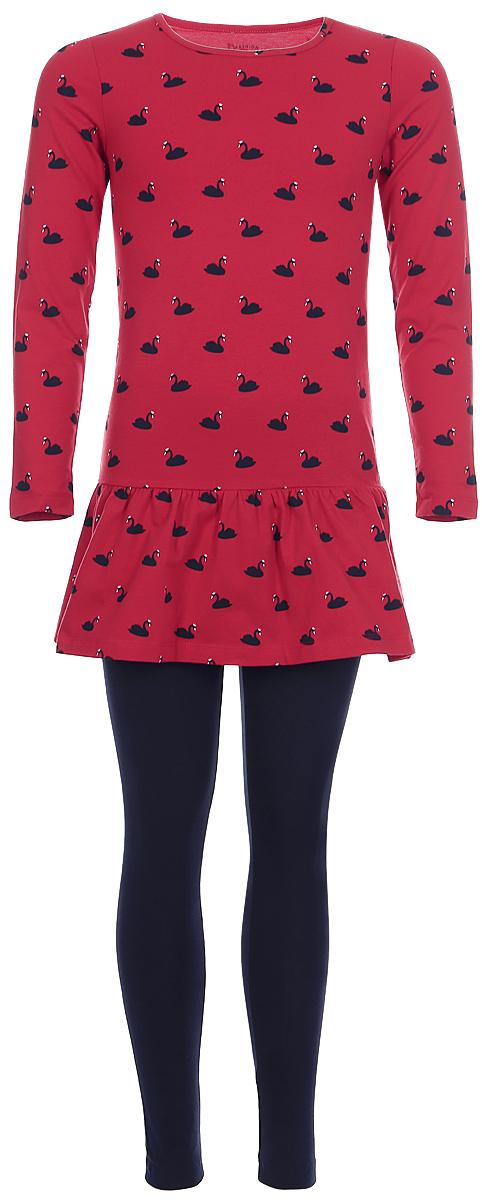 Платье для девочки Tom Tailor, цвет: красный. 5019935.00.81_4782. Размер 104/1105019935.00.81_4782Платье для девочки Tom Tailor выполнено из эластичного хлопкового трикотажа. Модель с длинными рукавами и круглым вырезом горловины.