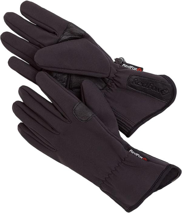 Перчатки мужские Red Fox Shell, цвет: черный. 1035669. Размер M (21,5/23)1035669Мужские перчатки Red Fox не только защитят ваши руки, но и станут великолепным украшением. Перчатки выполнены из полиэстера с добавлением спандекса. Модель оформлена эластичными прострочками. Изделие дополнено карабином для крепления перчаток к одежде или между собой.