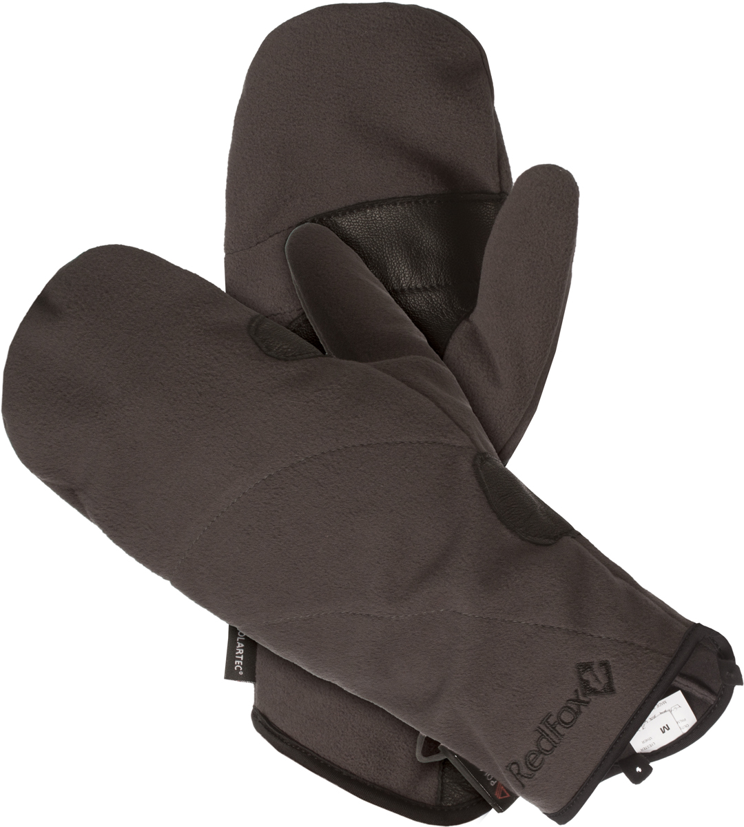 Варежки женские Red Fox Samanta, цвет: серый. 1035671. Размер L (23,5/25,5)1035671Варежки Red Fox выполнены из полиэстера и оформлены вышивкой логотипа бренда. Модель дополнена усилением в области ладони и карабином для крепления рукавиц к одежде или между собой.