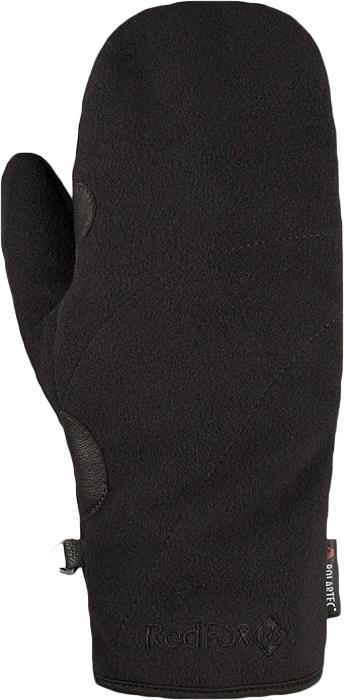 Варежки женские Red Fox Samanta, цвет: черный. 1035671. Размер L (23,5/25,5)1035671Варежки Red Fox выполнены из полиэстера и оформлены вышивкой логотипа бренда. Модель дополнена усилением в области ладони и карабином для крепления рукавиц к одежде или между собой.